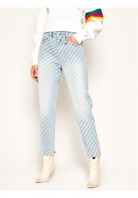 Diesel Jeansy D-Eiselle 00SH9G 009AU Niebieski Straight Fit. Kolor: niebieski. Materiał: jeans