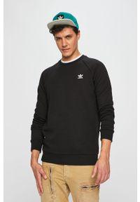 Czarna bluza nierozpinana adidas Originals bez kaptura, z aplikacjami, casualowa