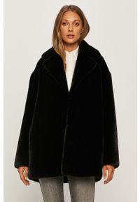 Czarny płaszcz TwinSet bez kaptura, casualowy, na co dzień