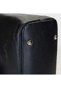 Wittchen - Damski plecak ze skóry składany. Kolor: czarny. Materiał: skóra. Wzór: haft. Styl: casual