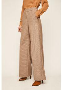 Brązowe spodnie materiałowe Miss Sixty z podwyższonym stanem