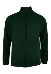 Zielony sweter Kings ze stójką, na zimę