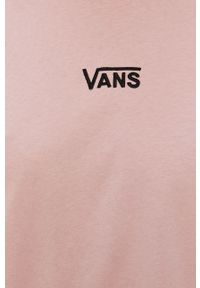 Vans - Sukienka. Okazja: na co dzień. Kolor: różowy. Materiał: dzianina. Długość rękawa: krótki rękaw. Typ sukienki: proste. Styl: casual