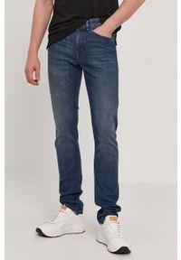 Niebieskie jeansy BOSS casualowe, na co dzień