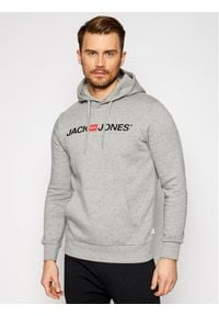 Jack & Jones - Jack&Jones Bluza Corp Old Logo 12137054 Szary Regular Fit. Kolor: szary