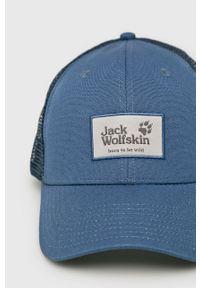 Niebieska czapka z daszkiem Jack Wolfskin gładkie