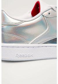 Srebrne buty sportowe Reebok Classic Reebok Classic, z cholewką