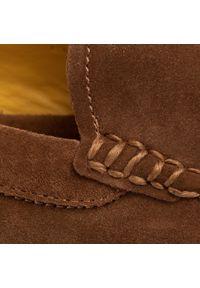 Brązowe półbuty Polo Ralph Lauren z cholewką, na co dzień #7