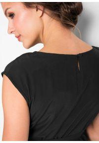 Czarna sukienka bonprix na co dzień, moda ciążowa, elegancka
