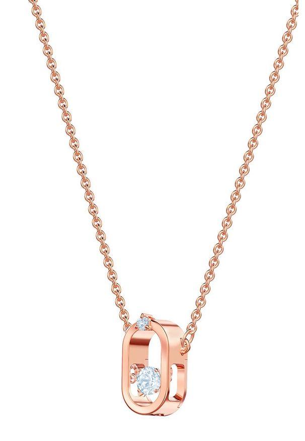 Złoty naszyjnik Swarovski z kryształem