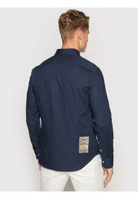 La Martina Koszula SMC302 OX077 Granatowy Regular Fit. Kolor: niebieski