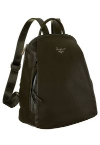 DAVID JONES - Plecak damski khaki David Jones 6607-2A KHAKI. Kolor: brązowy. Materiał: skóra ekologiczna