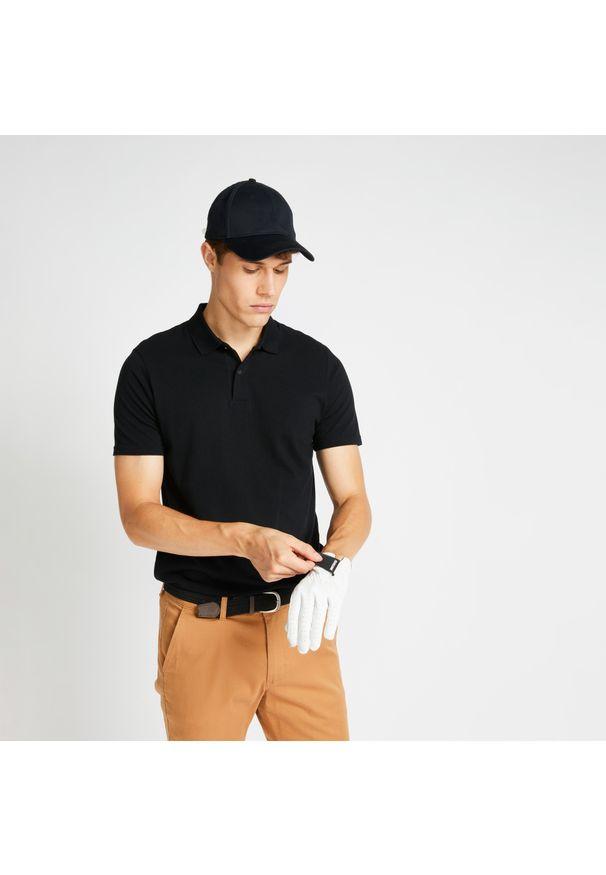 INESIS - Koszulka polo do golfa męska MW500. Typ kołnierza: golf, polo. Materiał: bawełna, materiał, poliester