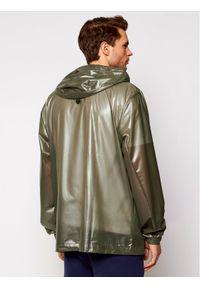 Zielona kurtka przeciwdeszczowa Rains na co dzień, casualowa