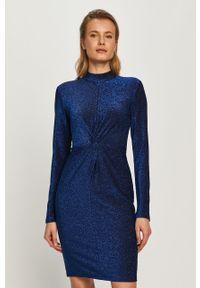 Niebieska sukienka Karl Lagerfeld na co dzień, mini