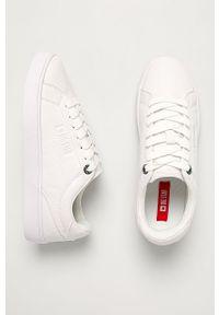 Białe buty sportowe Big-Star z cholewką, z okrągłym noskiem
