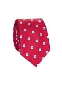 Czerwony krawat Giacomo Conti w kwiaty