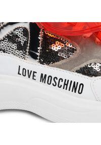 Półbuty Love Moschino z aplikacjami, z cholewką