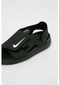 Czarne sandały Nike Kids na rzepy