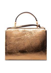 Złota torebka klasyczna Coccinelle skórzana