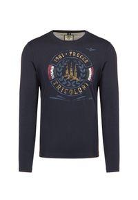 T-shirt Aeronautica Militare z nadrukiem, na jesień