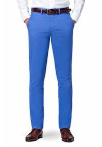 Niebieskie spodnie Lancerto na co dzień, sportowe, w kolorowe wzory