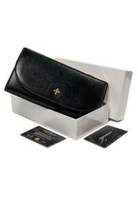 MILANO DESIGN - Portfel damski czarny Milano Design SF1833-SAF BLACK. Kolor: czarny. Materiał: skóra ekologiczna