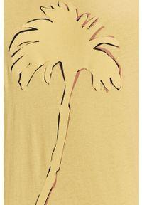 Żółty t-shirt Pepe Jeans casualowy, na co dzień
