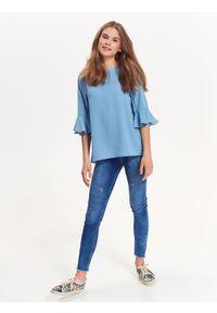 Niebieska bluzka TROLL z krótkim rękawem, casualowa, na wiosnę #6