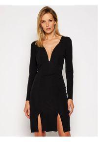 Czarna sukienka koktajlowa Just Cavalli wizytowa