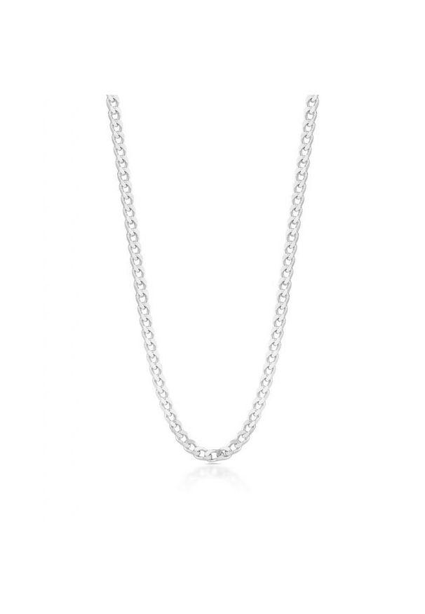W.KRUK Zjawiskowy Łańcuszek Srebrny - srebro 925 - SCR/LS064. Materiał: srebrne. Kolor: srebrny. Wzór: ze splotem