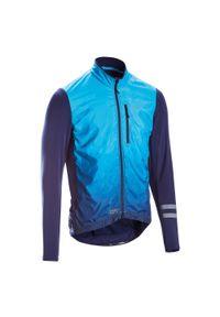 TRIBAN - Bluza rowerowa Triban RC500 Shield. Kolor: turkusowy, niebieski, wielokolorowy. Materiał: poliester, materiał, elastan. Długość rękawa: długi rękaw. Długość: długie. Sezon: zima. Sport: kolarstwo, wspinaczka