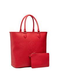 Trussardi Jeans - Trussardi Torebka Pre Iris Shopper Lg 75B01099 Czerwony. Kolor: czerwony