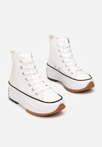 Born2be - Białe Trampki Phialaeno. Kolor: biały