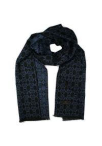 Niebieski szalik Adriano Guinari na jesień, elegancki
