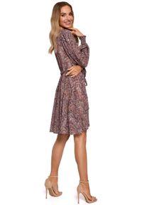 Sukienka koktajlowa MOE mini, kopertowa