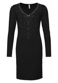 Czarna sukienka bonprix wizytowa