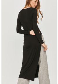 Czarna sukienka Answear Lab z długim rękawem, na co dzień, midi