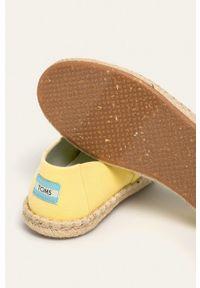 Toms - Espadryle Classic. Nosek buta: okrągły. Kolor: żółty. Materiał: guma