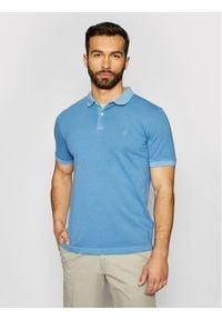 Marc O'Polo Polo 123 2496 53190 Niebieski Shaped Fit. Typ kołnierza: polo. Kolor: niebieski