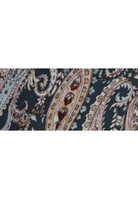 TOP SECRET - Bluzka z tkaniny plumeti, ze stójką i bufiastymi rękawami. Okazja: na imprezę. Typ kołnierza: kołnierzyk stójkowy. Kolor: niebieski. Materiał: tkanina. Długość: długie. Sezon: wiosna. Styl: elegancki