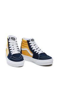 Vans - Sneakersy VANS - Sk8-Hi VN0A4BUW3UX1 (Classic Sport) Drsbisffrn. Okazja: na uczelnię, na spacer. Zapięcie: sznurówki. Kolor: żółty, wielokolorowy, niebieski. Materiał: zamsz, materiał. Szerokość cholewki: normalna. Styl: sportowy