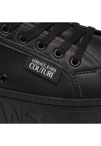 Czarne półbuty Versace Jeans Couture z cholewką, casualowe