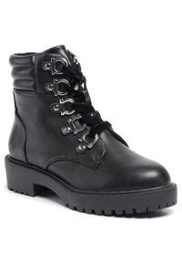 Czarne buty trekkingowe Bullboxer z cholewką