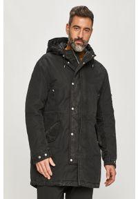 Czarna kurtka AllSaints na co dzień, z kapturem, casualowa