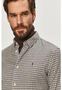 Szara koszula AllSaints z długim rękawem, długa