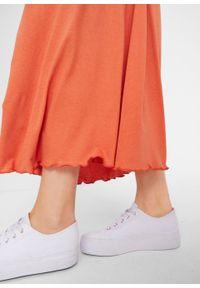 Czerwona spódnica bonprix długa