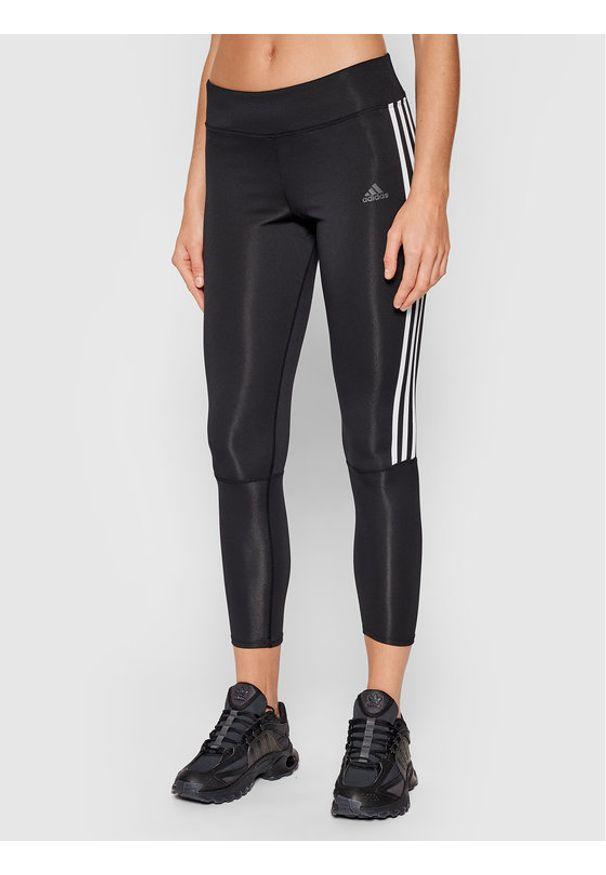 Adidas - adidas Legginsy Running 3-Stripes CZ8095 Czarny Skinny Fit. Kolor: czarny. Sport: bieganie