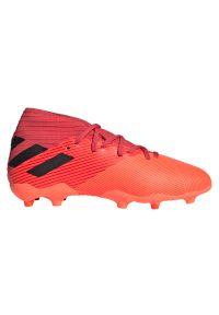 Adidas - Buty piłkarskie korki dla dzieci adidas Nemeziz 19.3 EH0492. Zapięcie: zamek. Materiał: materiał, syntetyk, mesh. Szerokość cholewki: normalna. Sport: piłka nożna