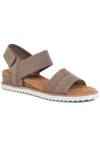 Brązowe sandały skechers na co dzień, casualowe